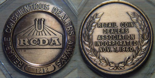 Retail Coin Dealers Association medal