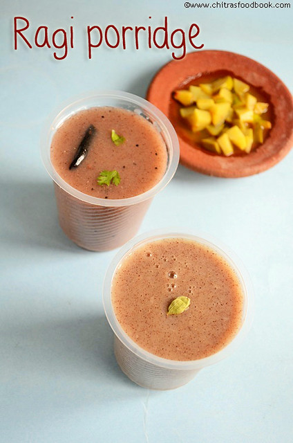 Ragi porridgesweetspicy versionragi kanji ragi recipes ragi porridge recipe forumfinder