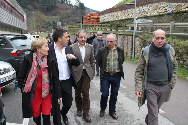 Visita del Diputado General de Gipuzkoa a Matz-Erreka