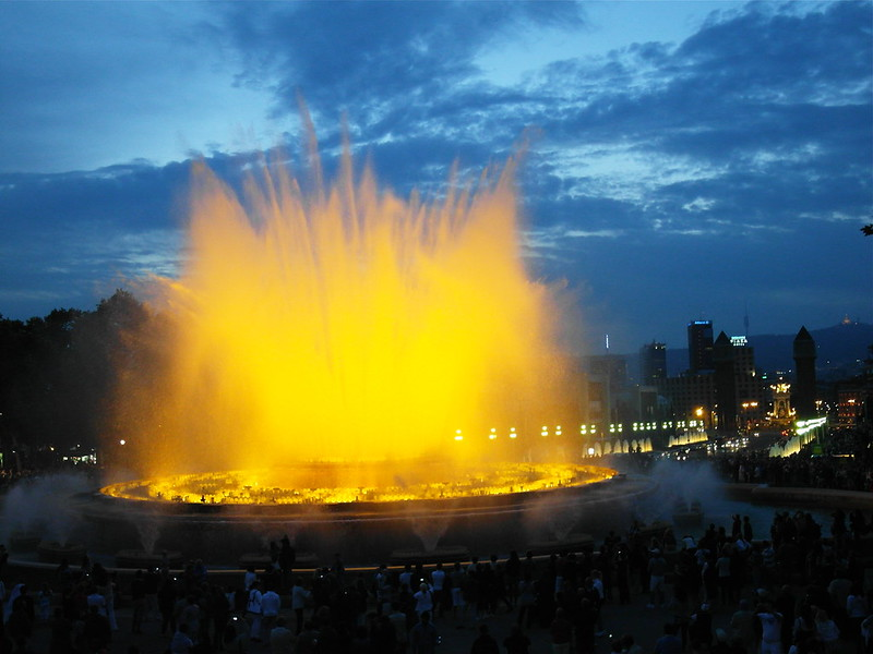 Musical fountain, Barcelona