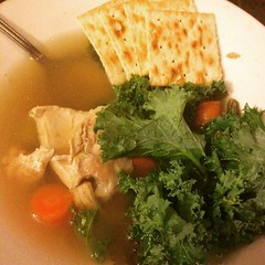 Haha there's a #kale shortage in #nyc as hipsters race to stock up before the #blizzard hits. We have plenty of kale for our soups like this #chickensoup and more because we didn't wait until the last second to go shopping before the storm.