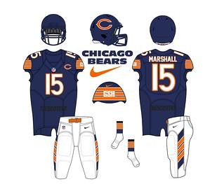 Chicago Bears Home Uniform Concept