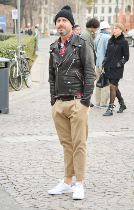 Leather Jacket + Chino