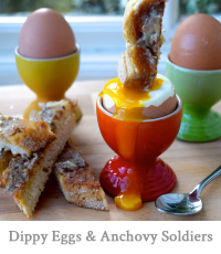 Dippy Eggs & Anchovy Soldiers