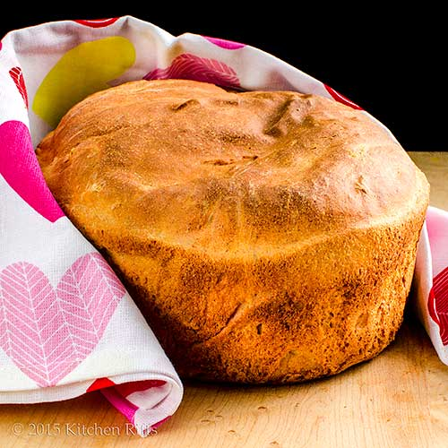 Homemade Whole Wheat Bread on cutting board