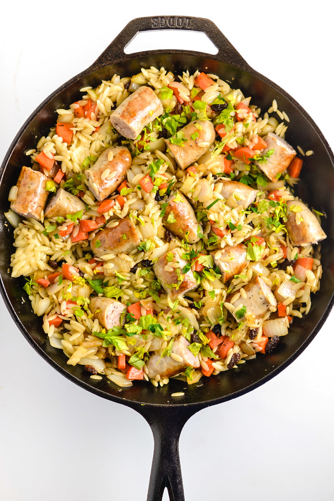 Orzo Pilaf with Italian Sausage | Things I Made Today