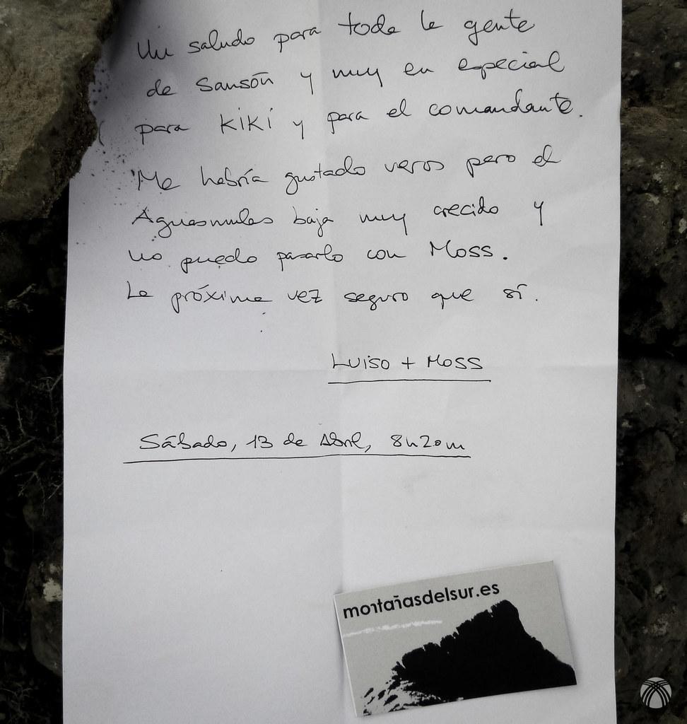 Una nota para Sansón y Kiki
