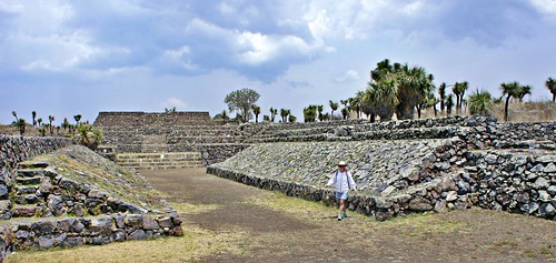 - Exploring the arqueological site of Cantona, Puebla.