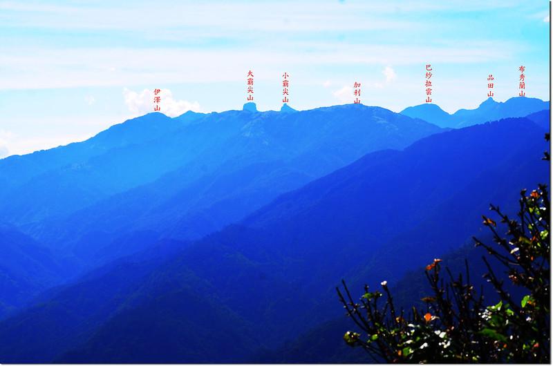 榛山觀景台東望大霸群峰 1