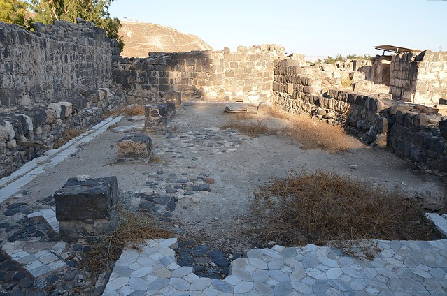 The latrine next to the Western Bathhouse built in the 4th century AD, Scythopolis (Beth-She'an), Israel