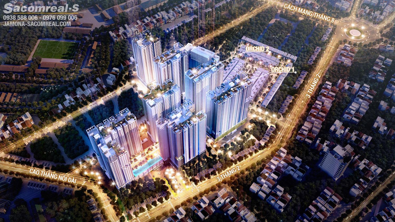 Phối cảnh tổng thể dự án Hà Đô Centrosa Garden (Hà Đô 756 Sài Gòn).