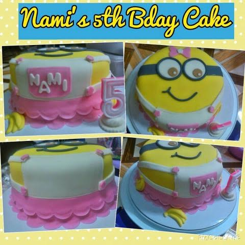 Girl Minion Cake by Irene Dewsnup from Kitchen Bites