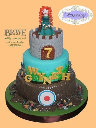 Merida of Disney's Brave - All Edible Cake by Miziel Go