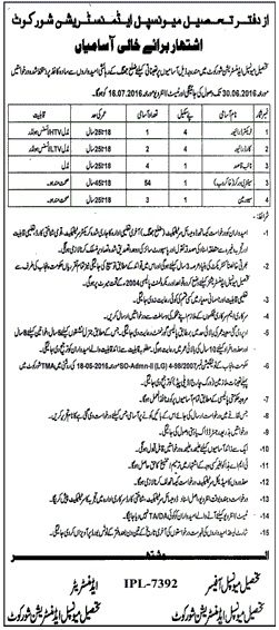 TMA Shorkot Basic Scale Jobs