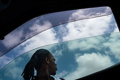 Man out of the car window