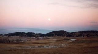 Moonrise over the Black Hills