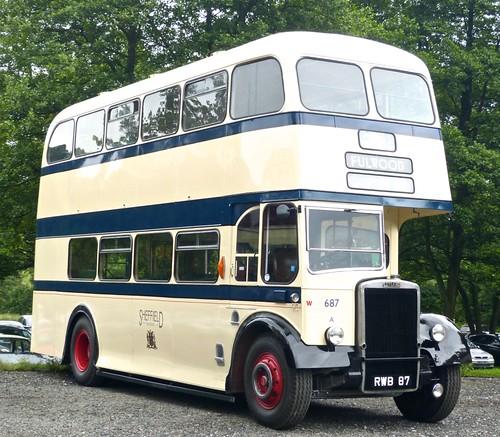 RWB 87 'Sheffield Corporation Transport' 687 Leyland Titan PD2/12 / Weymann /3 on Dennis Basford's 'roadsrailsrunways.blogspot.co.uk'