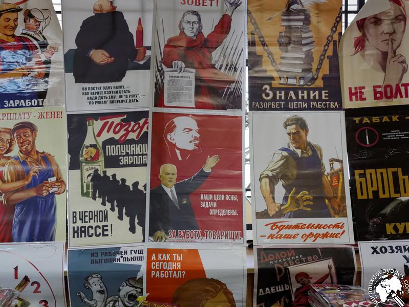 Posters à l'effigie de l'époque soviétique