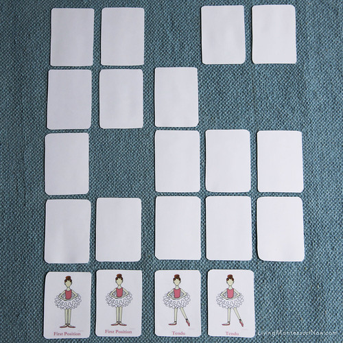 Crafterina Ballet Flashcards Used as a Concentration Game