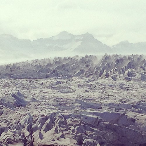 Fláajökull #iceland #glacier Saw this today and fell in love.