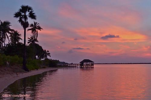 Sunset at Kalpitiya Lagoon, Sri Lanka