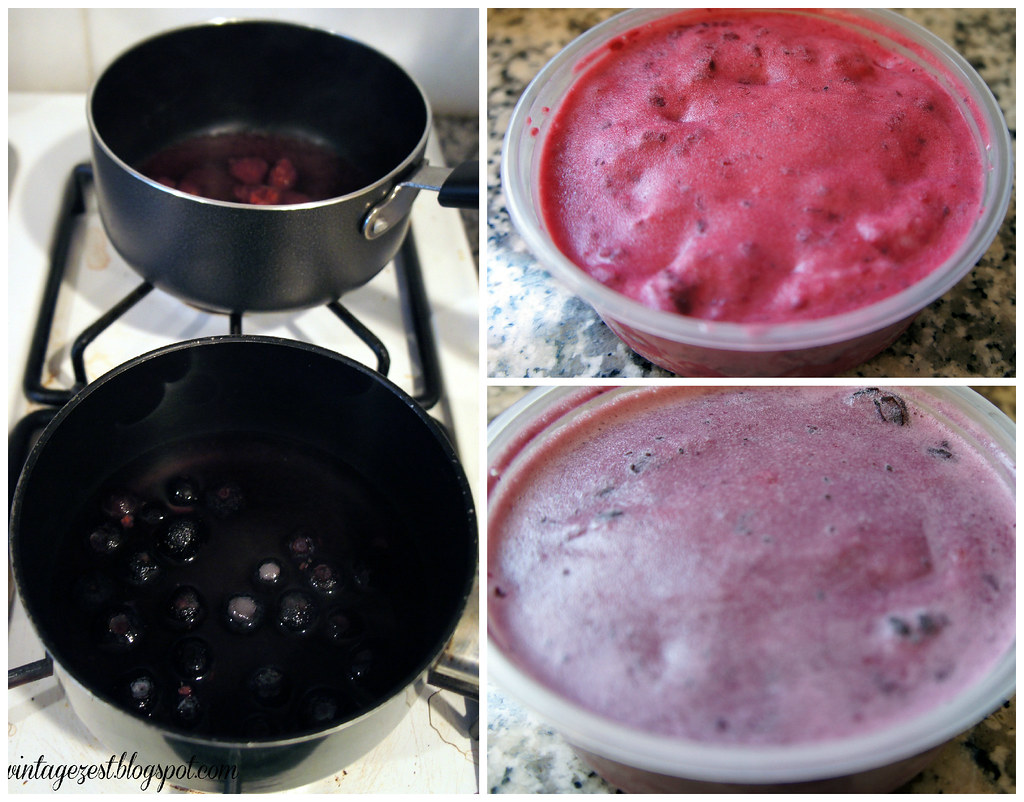 Coconut, Raspberry and Blueberry Ice Cream (AKA July 4th Ice Cream) on Diane's Vintage Zest!