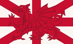 The flag of the Kingdom of England, Wales and Northern Ireland