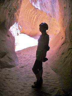 Clare Exiting the Dark Narrow Part of Leprechaun