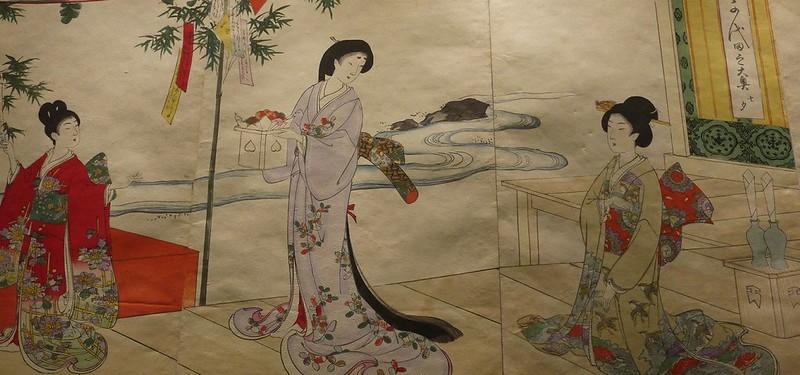15 桥本周延(1838-1912),千代田之大奥-七夕(1884-1886)
