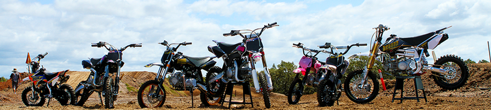 Range of dirt bikes