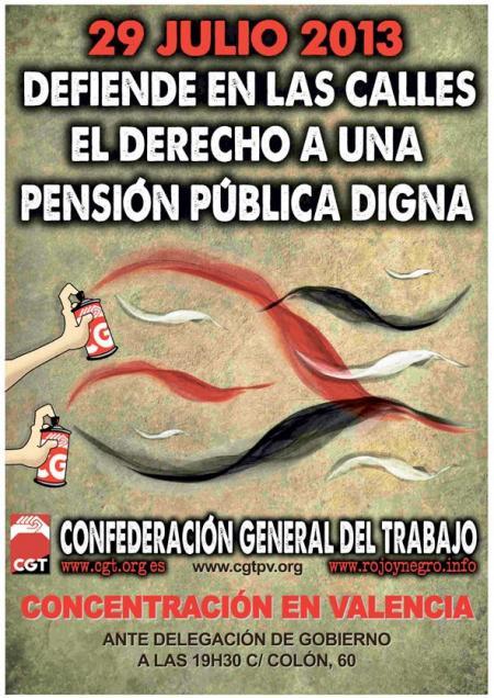 concentracio contra reforma de les pensions a valència