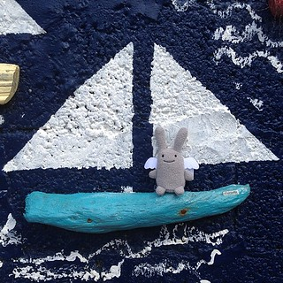 Angel Bunny went on a boat.