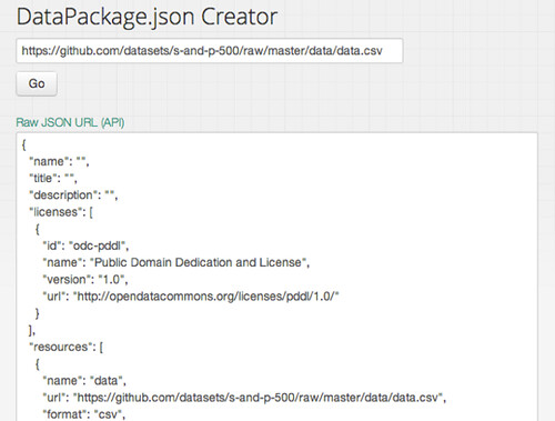 Data Package Creator in action