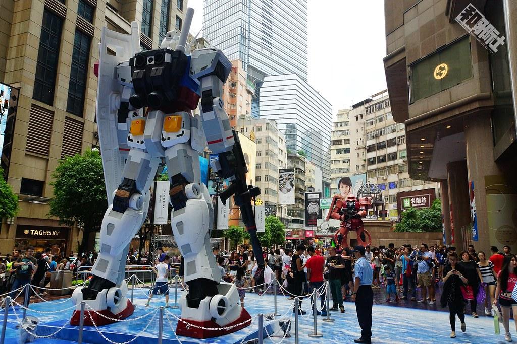 风雨中的宿敌-香港时代广场Gundam Docks AT HONGKONG-星宫动漫