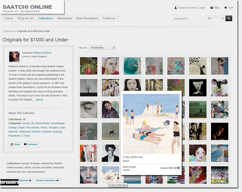 A day at the sea by nerosunero featured on Saatchi Online's homepage by nerosunero