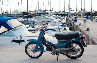 Honda Cub - by the marina