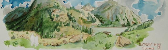 Estany de Llebrets, vall de boï