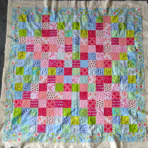 Blackberry Winter Blossom Quilt - quilting in progress