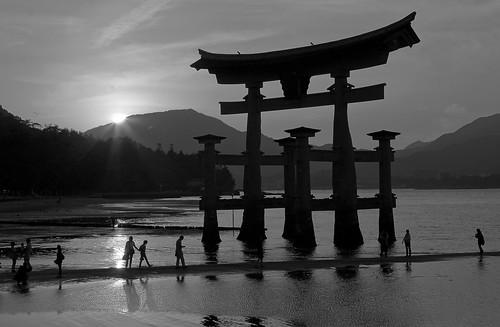 Sunset at Itsukushima Shrine