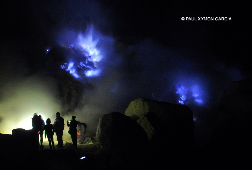 Sulfur mines at Kawah Ijen, East Java, Indonesia