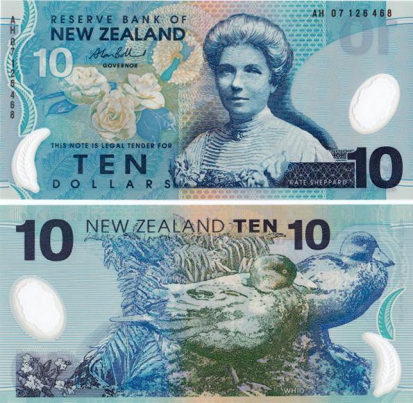 10 Dolárov Nový Zéland 1999-2006, polymer, Pick 186