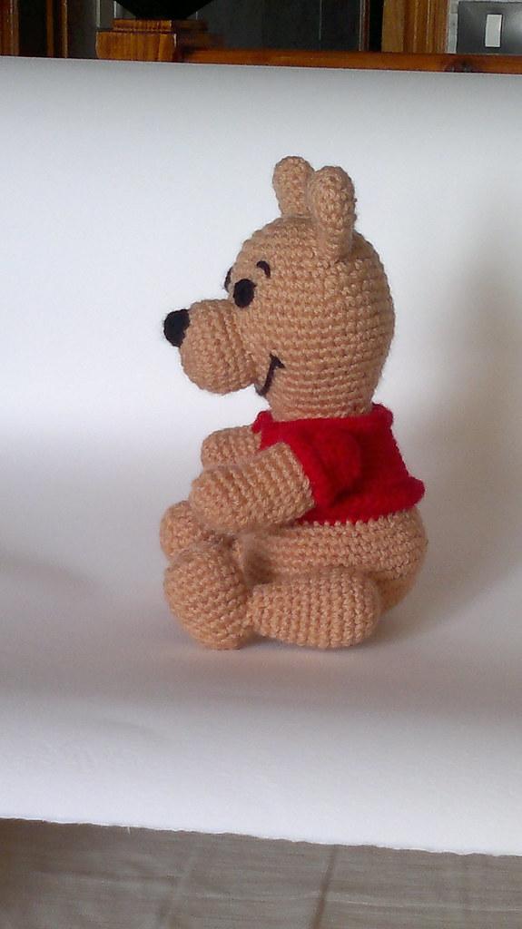 Crochet Winnie The Pooh Bear Pattern - Amigurumi Crochet ... | 1025x575