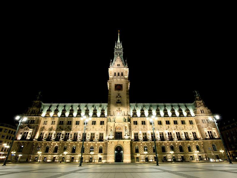 漢堡市政廳夜景