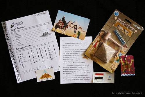 Contents of the Little Passports Egypt Package