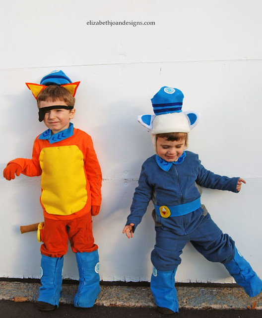 Octonauts costumes and diy sailors hat elizabeth joan designs an orange shirt and pants were the base of the kwazi outfit felt triangles were attached to a headband for the ears my little guy made sure i even cut a solutioingenieria Gallery