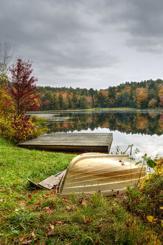 county autumn lake reflection fall nature rural landscape boat monterey dock pond massachusetts foliage berkshires berkshire