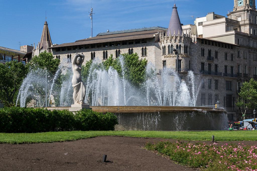Plaça de Catalunya, Barcelona, Spain