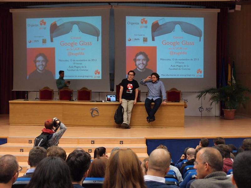 Google Glass y Antonio Zugaldia en GrinUGR