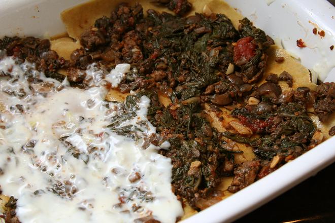 swiss chard lasagna 1