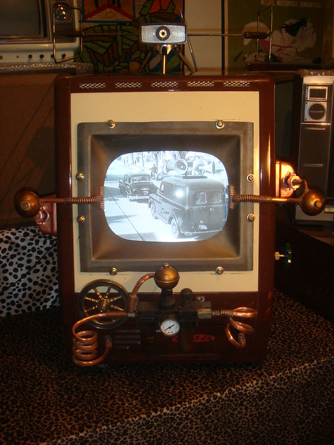 Steampunk Tv Set by Al Massini